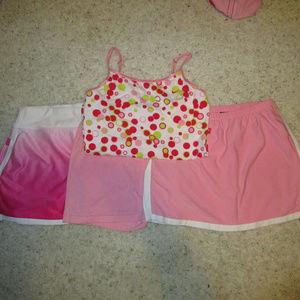 NIKE 4pc Tennis Skirts & Tank Bundle Sm / Med
